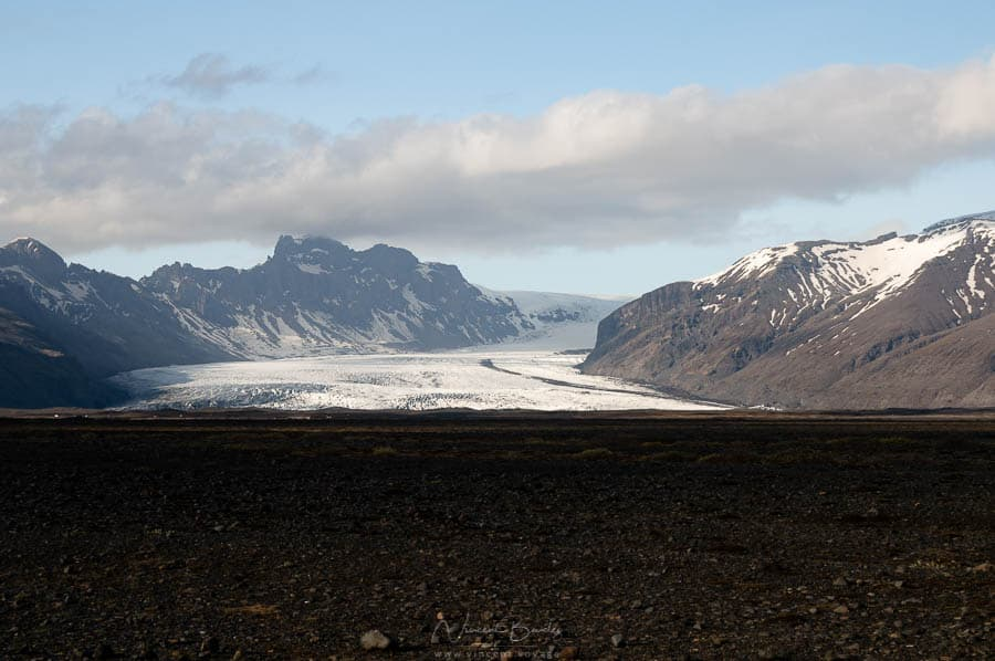 les glaciers du parc du Skaftafell au Vatnajokull en Islande