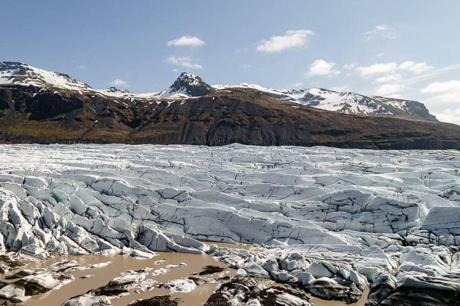 marche sur le glacier Sólheimajökull en Islande