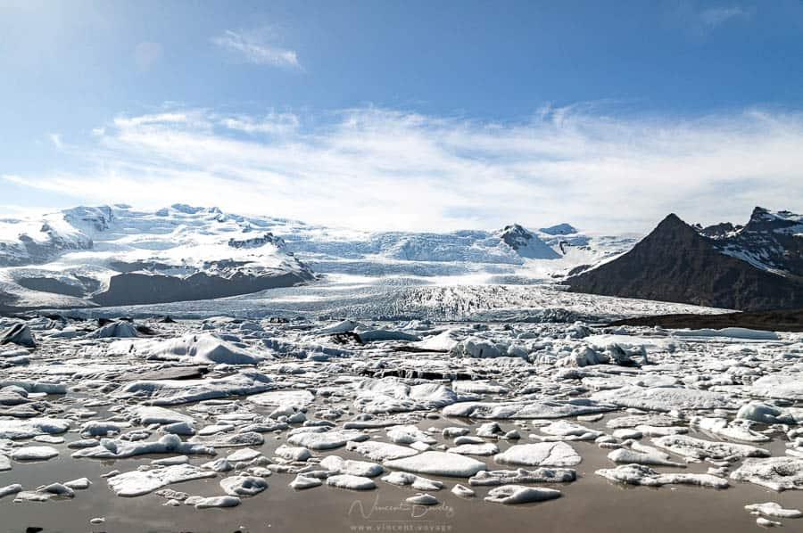 glacier Fjallsarlon en Islande