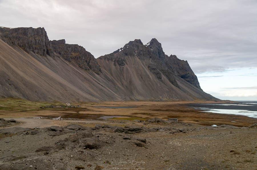 montagne Vestrahorn dans le sud de l'Islande