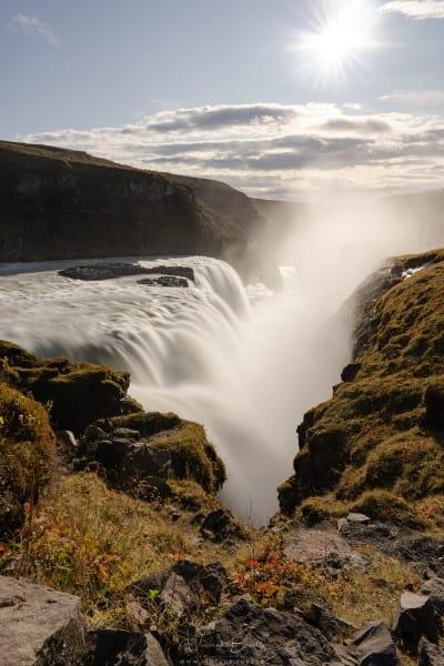 Cascade de Gullfoss en Islande au cercle d'Or