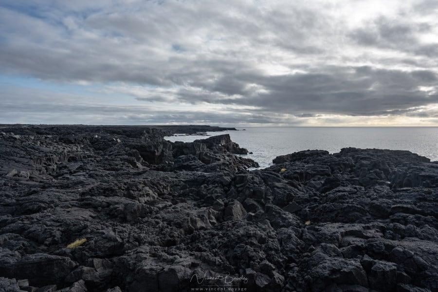 Champs de lave péninsule Reykjanes en Islande