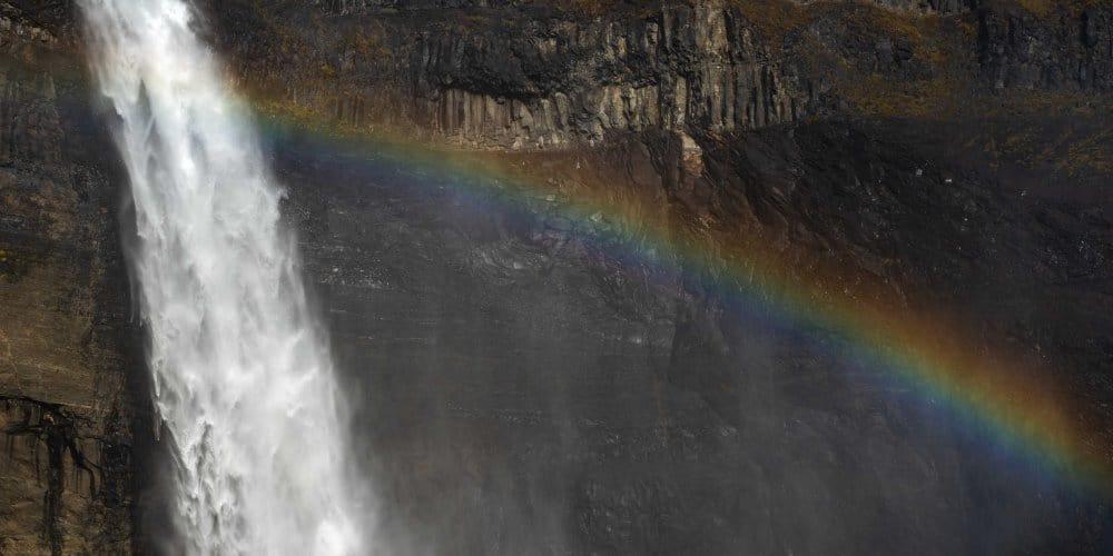 cascade haifoss arc en ciel islande | blog vincent voyage