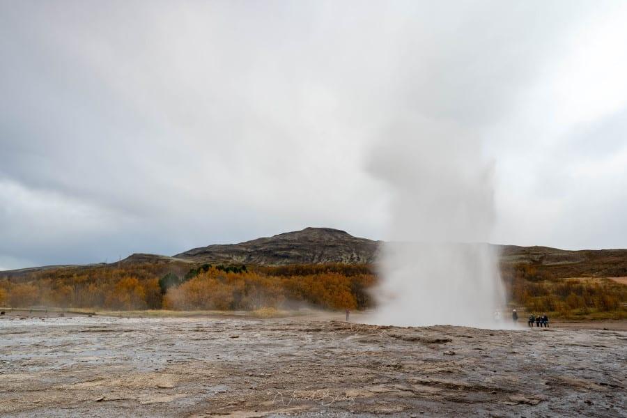 geysers de Geysir dans le cercle d'or en islande