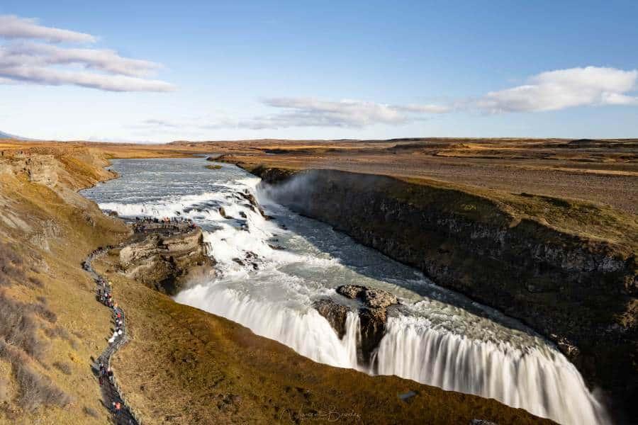 voir gullfoss cascade cercle d'or islande | blog vincent voyage