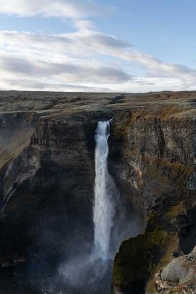 voir cascade haifoss islande | blog vincent voyage