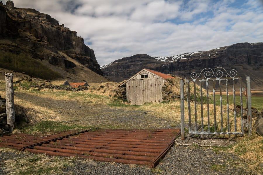 village fantome de nupsstadir en Islande