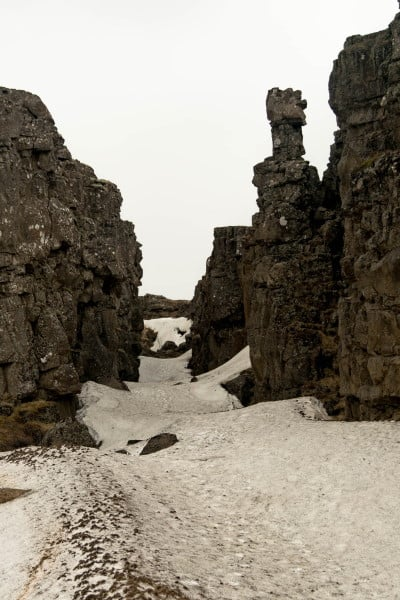 Canyon Thingvellir au cercle d'Or en Islande