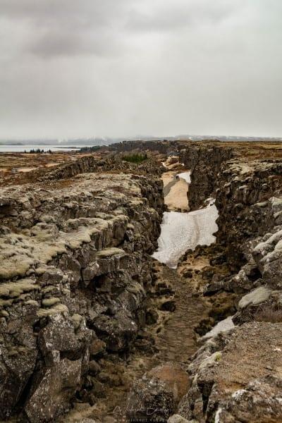 Parc de Thingvellir en Islande au cercle d'or