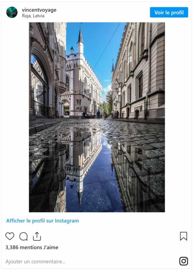 Photo ville de Riga en Lettonie