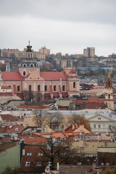 Vue depuis la tour Gediminas à Vilnius en Lituanie
