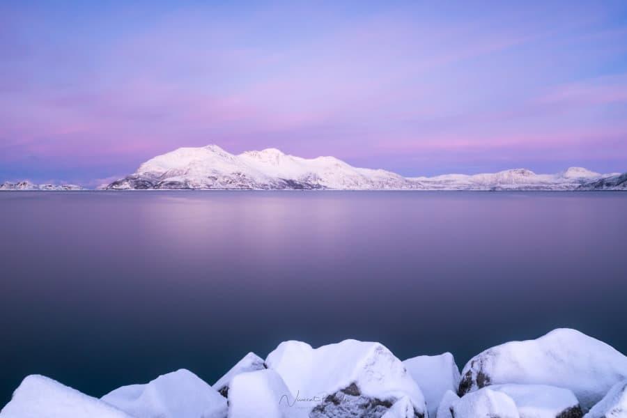 Tromvik Tromso Coucher de soleil Norvège | Blog Vincent Voyage