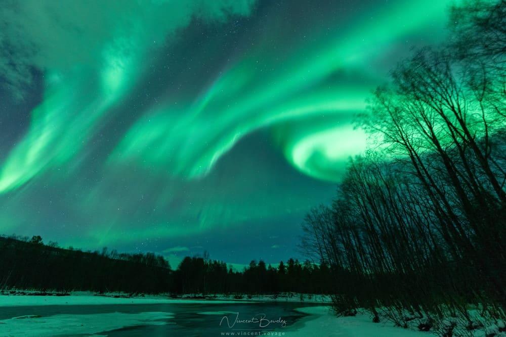 Aurores boréales à Alta en Norvège