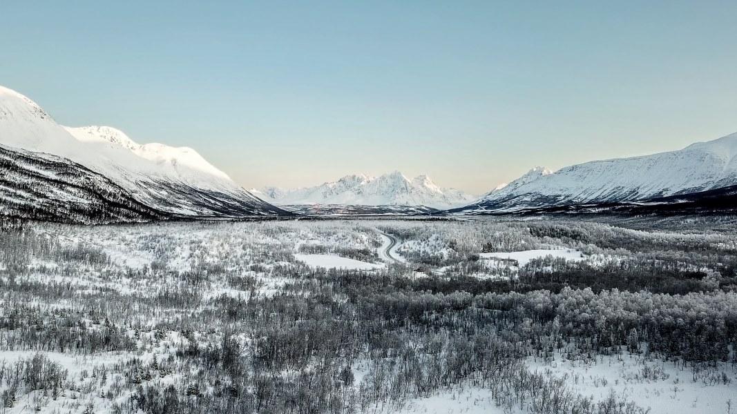 Photo Drone Norvège vallée Breivikeidet Tromso | Blog Vincent Voyage