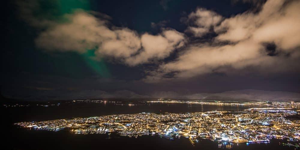 aurores boreales fjellheisen tromso en Norvège | Blog Vincent Voyage