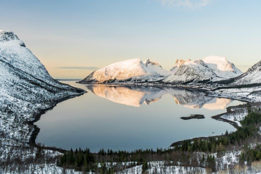 Bergsbotn vue fjord Senja Norveve | Blog Vincent Voyage