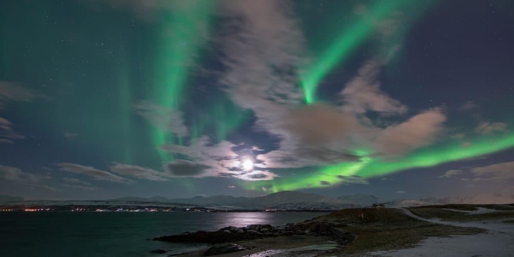aurores boréales tromso telegrafbukta en Norvège | Blog Vincent Voyage