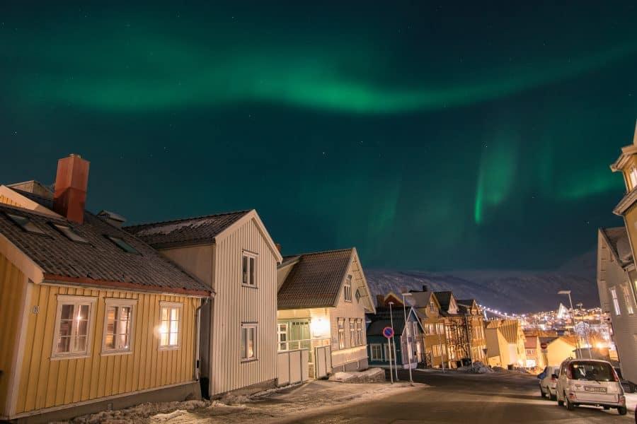 aurores boréales tromso ville en Norvège | Blog Vincent Voyage
