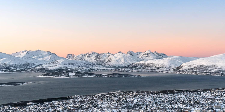 Fjellheisen vue Tromso en Norvège coucher de soleil | Blog Vincent Voyage