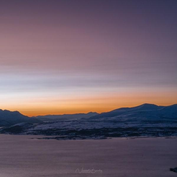 Vue sur Tromso en Norvège coucher de soleil | Blog Vincent Voyage