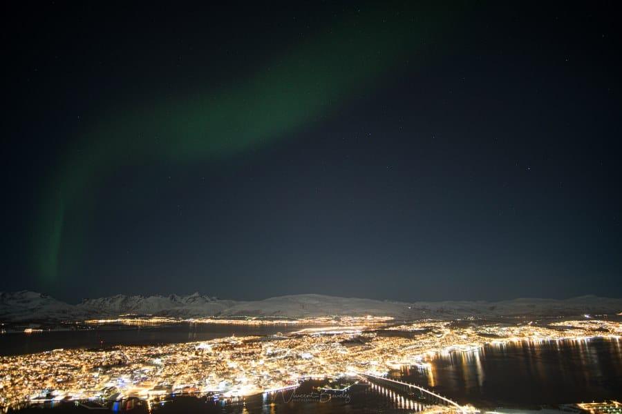 Fjellheisen aurores boreales Tromso Norvege | Blog Vincent Voyage