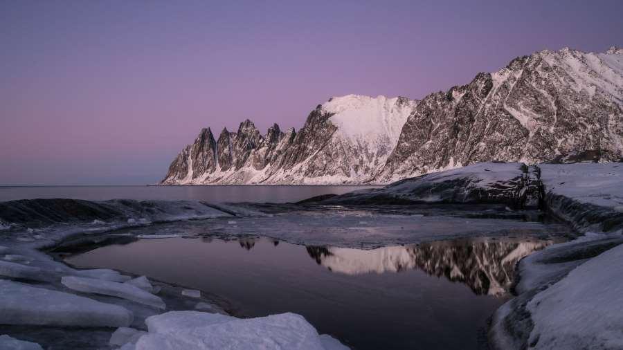 tungeneset sunset fjord Senja Norveve | Blog Vincent Voyage