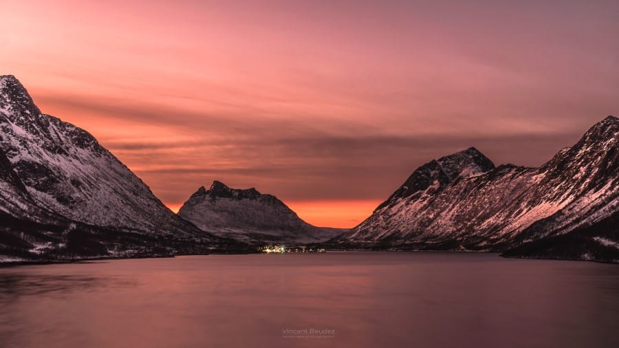 gryllefjord norvege senja coucher de soleil | blog vincent voyage