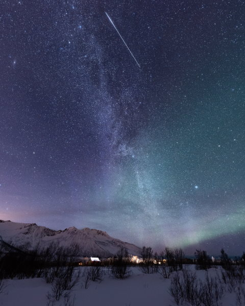 voie lactée aurores boréales senja norvege vincent voyage