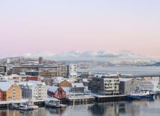 meilleurs hôtels de Tromso vue Radisson Blu au coucher de soleil