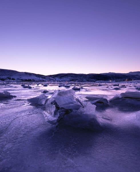 fjord ringvassoya tromso kvaloya sunset blog vincent voyage