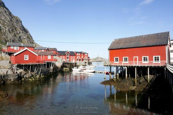 village de A i lofoten en été en Norvège dans les iles Lofoten