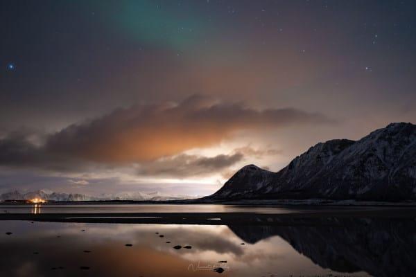 aurores boréales iles lofoten en norvege