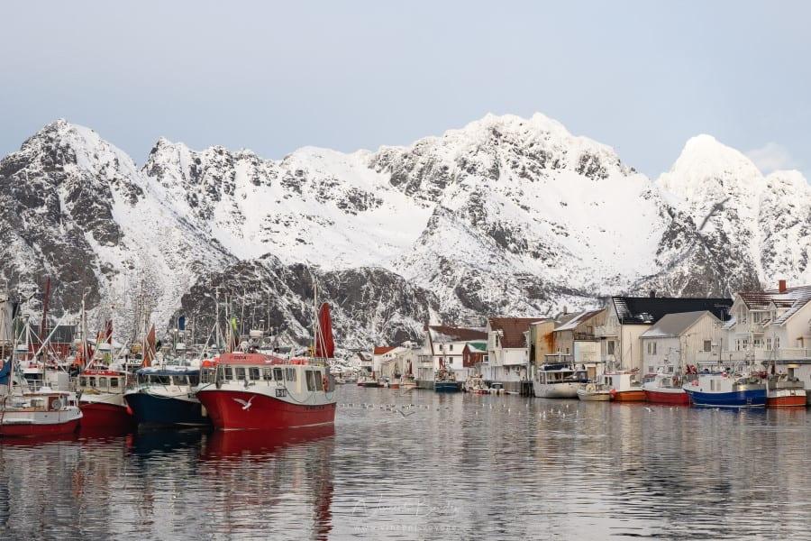 Henningsvaer dans les iles Lofoten en Norvège