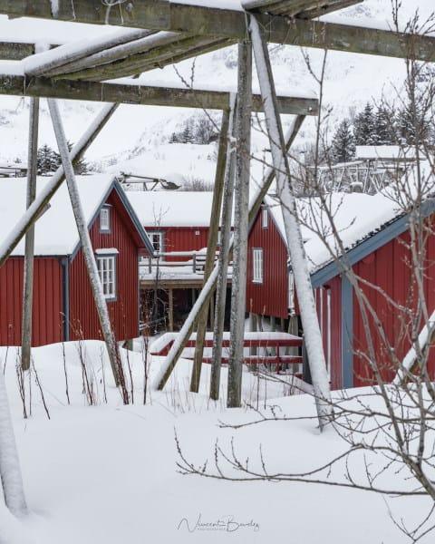 A i lofoten village de pecheurs en hiver