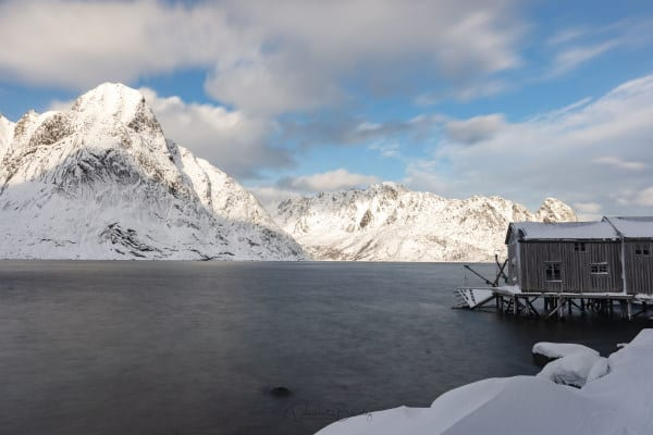 Cabane pecheurs iles lofoten en Norvège