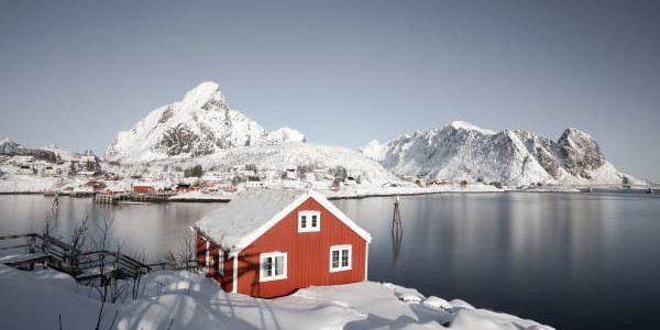 village de Reine dans les Lofoten en Hiver