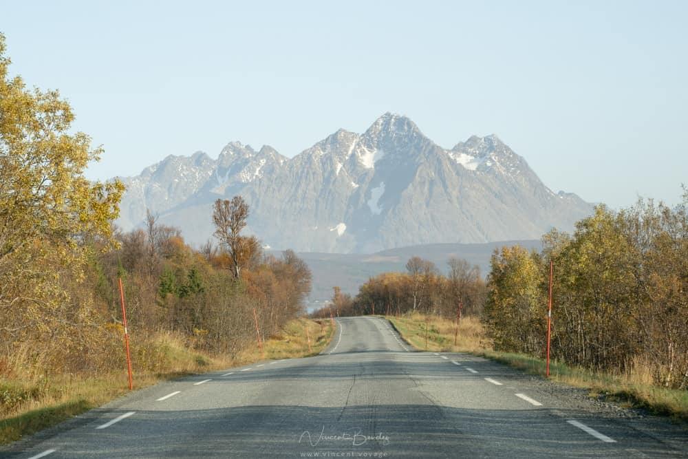 Lyngen Alpes à Tromso en Norvège