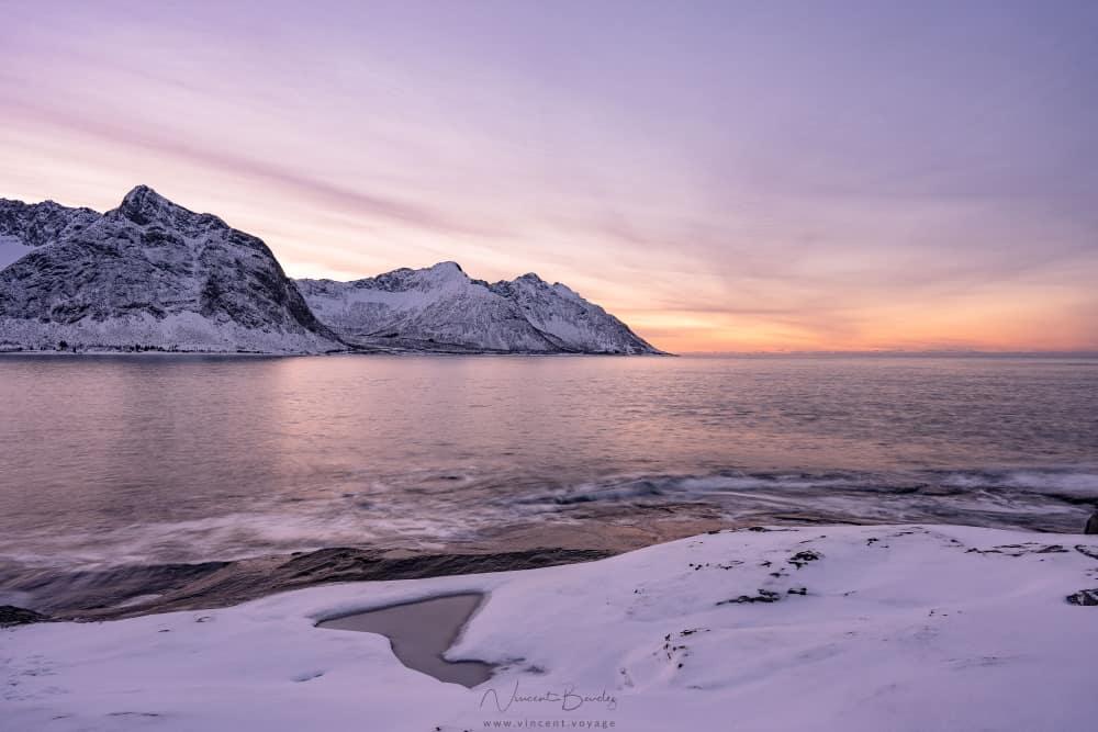 Vue Tungeneset à Senja en norvège