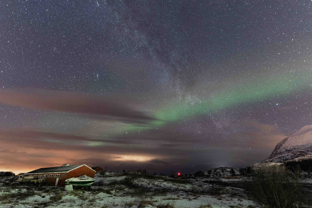 Skrollsvika Senja aurores boréales