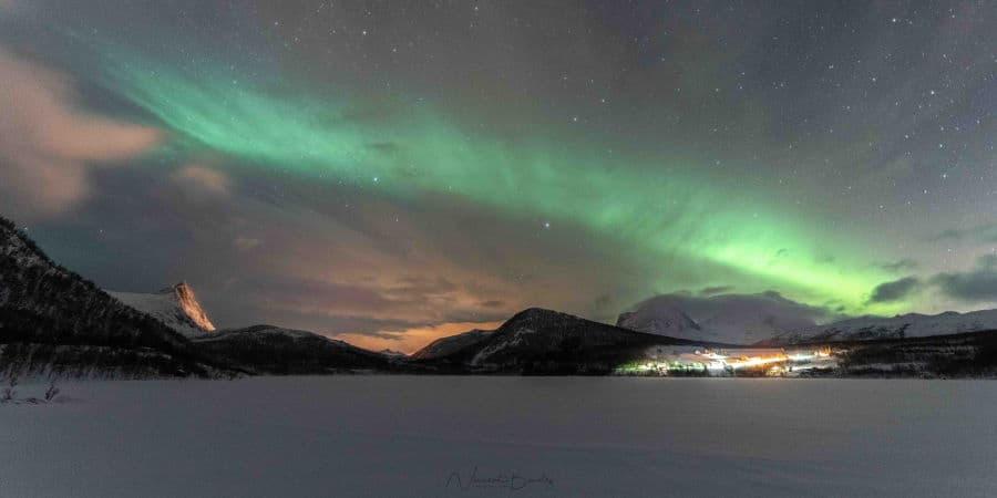aurores boreales senja olaheimvatnet