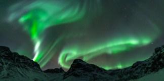Aurores Boréales Tromso Grotfjord