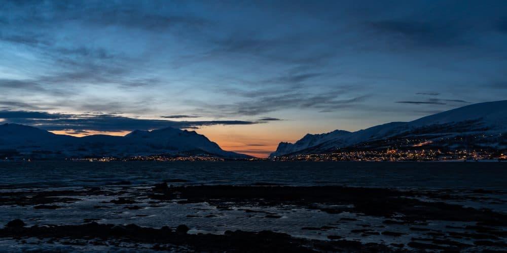 coucher de soleil tromso kvaloya aurores boreales Norvège | Blog Vincent Voyage