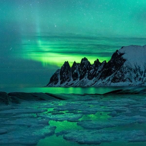 tungeneset aurores boreales fjord Senja Norveve | Blog Vincent Voyage