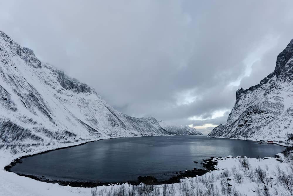 FJord Ornfjorden à Senja Fjordgard