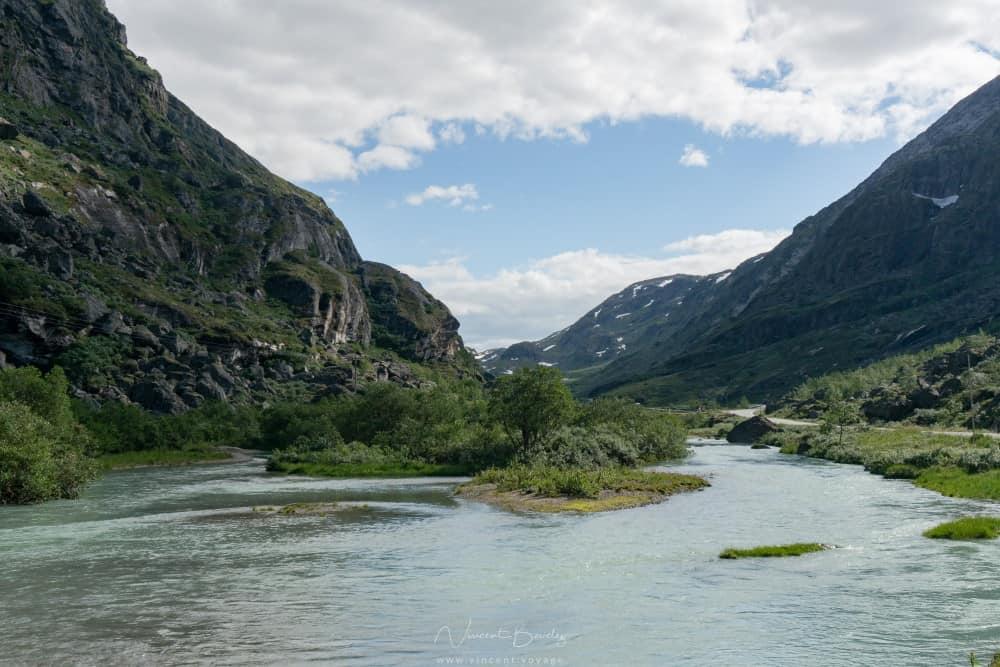 Rivière en Norvège région des fjords