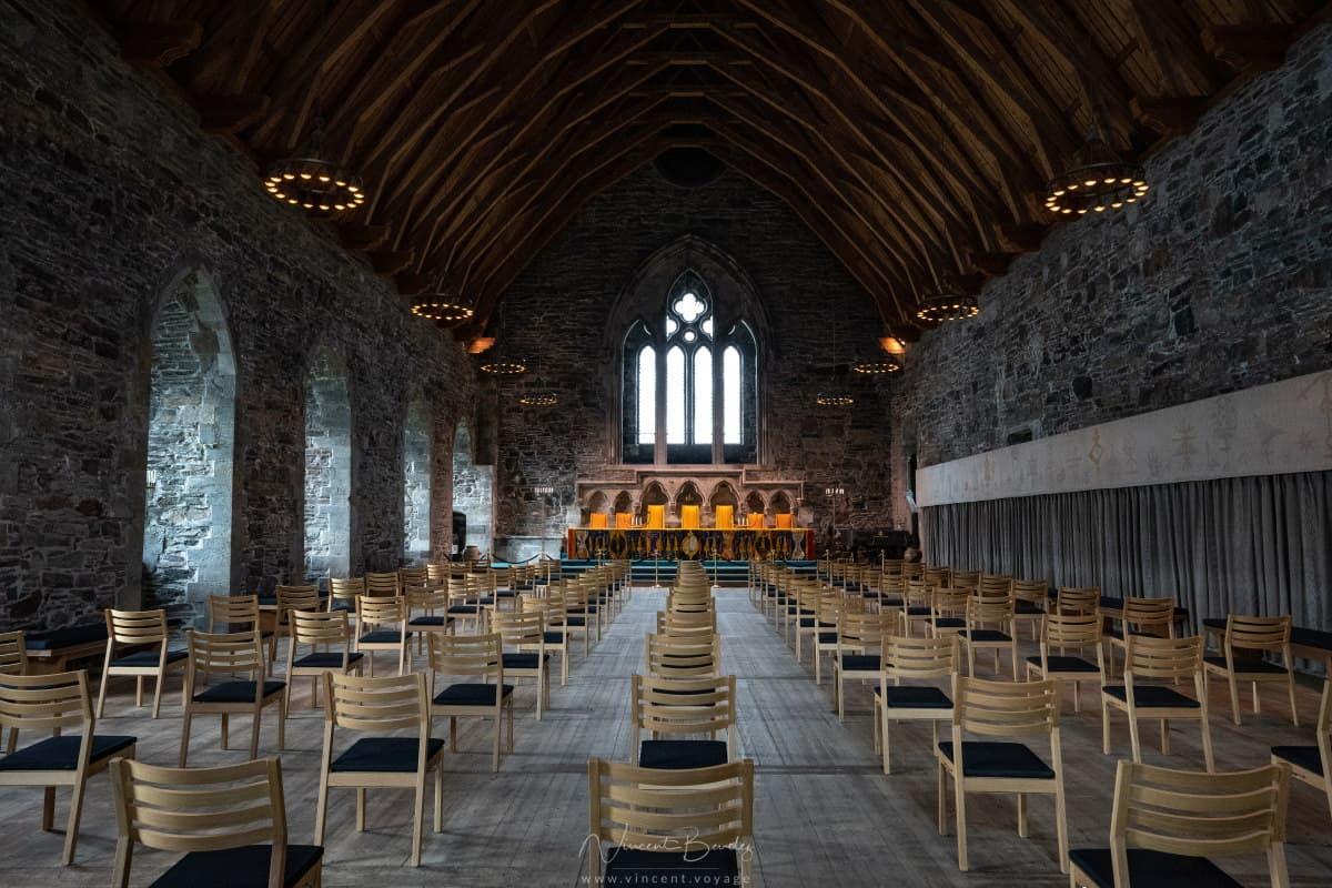 Hall roi Hakon forteresse de Bergen