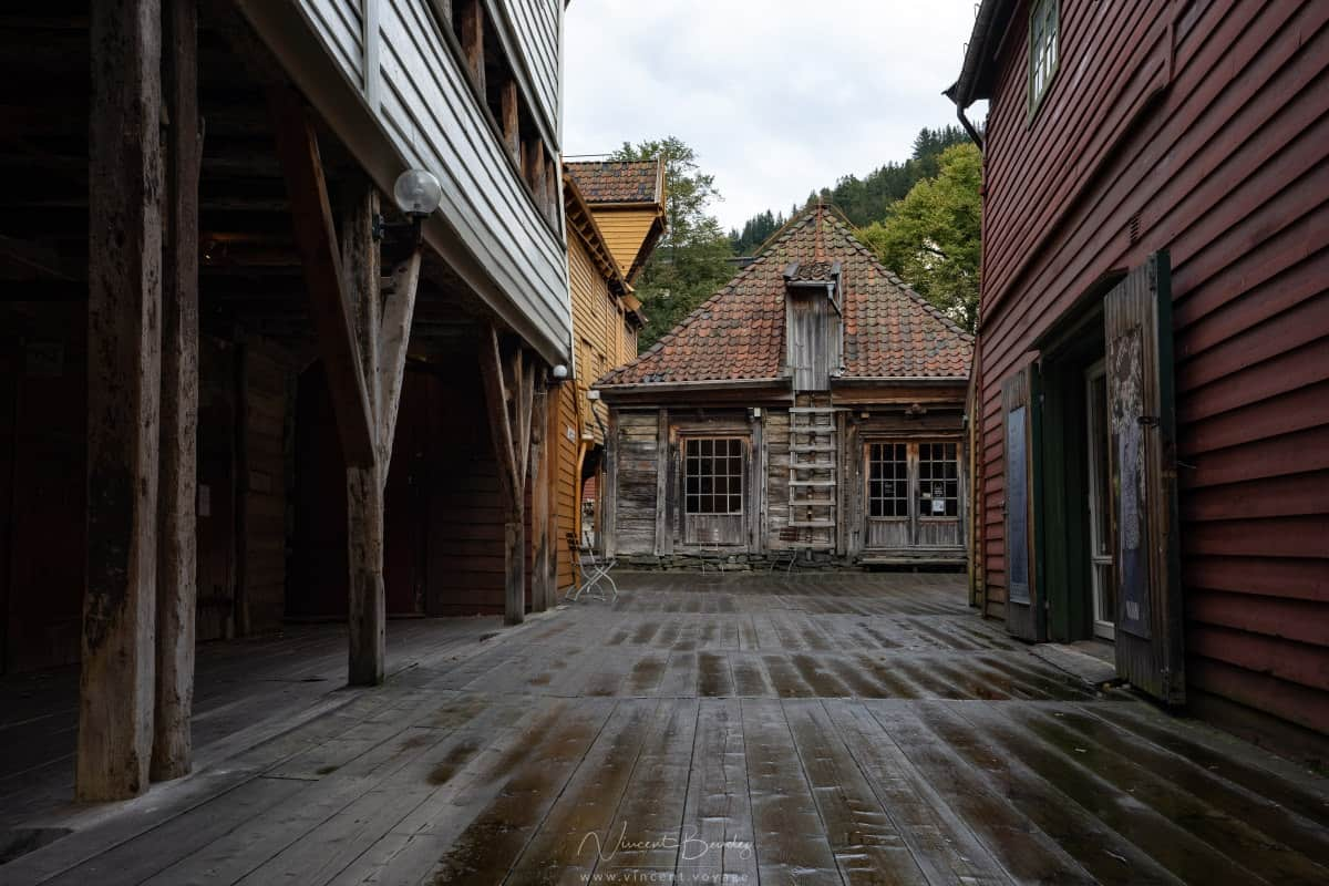 Maisons en bois de Bryggen à Bergen