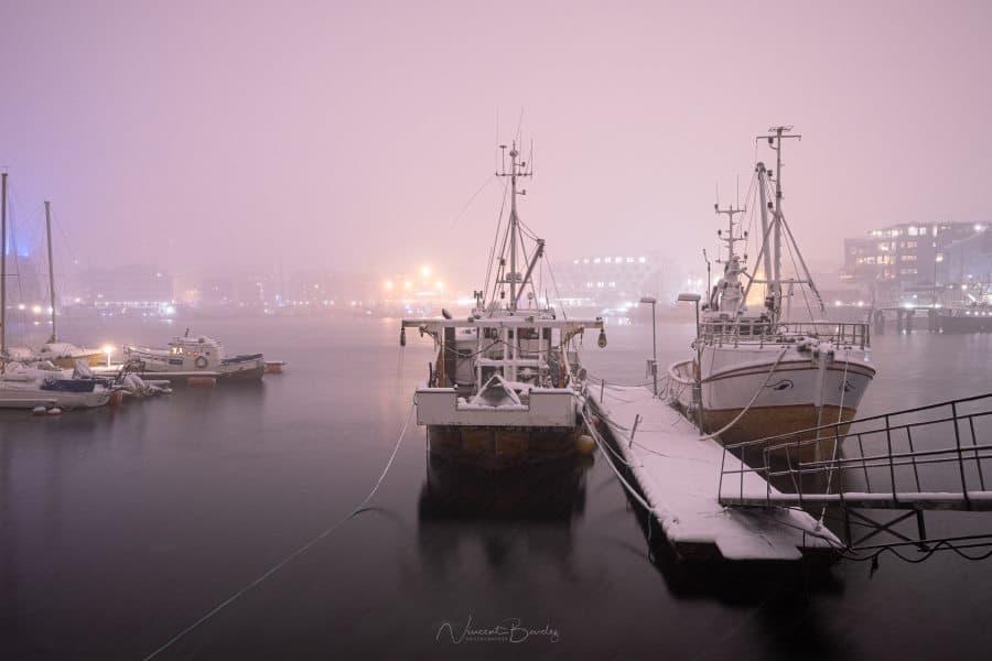 port tromso sous la neige | blog vincent voyage