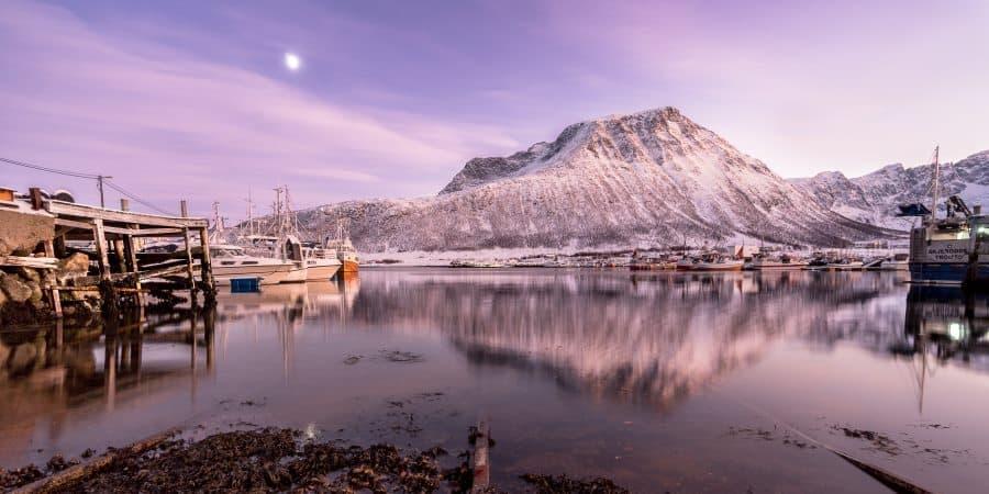 tromvik kvaloya coucher de soleil tromso norvege | blog vincent voyage