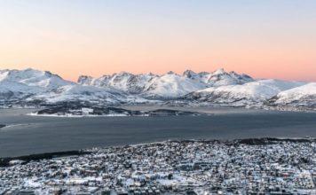 coucher de soleil tromso kvaloya norvège | blog vincent voyage